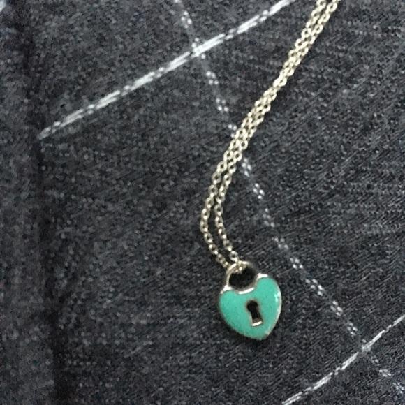 Tiffany Co Jewelry Tiffany Co Blue Enamel Heart Key Lock Necklace Poshmark